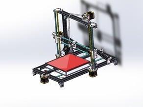 Prusa i3 rework in Aluminumm