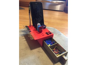 desk organizer with drawer and phone holder