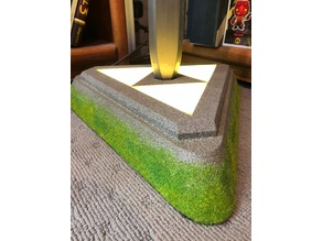 Master Sword Triforce Pedestal Stand (Breath of The Wild) (Light-Up)