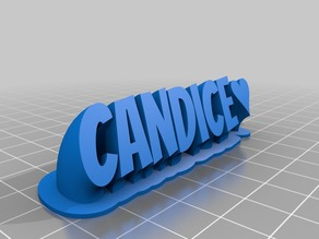 Candice name plate