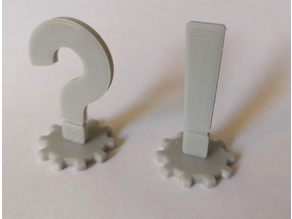 Question & Exclamation Mark pluggable token (28 mm Tabletop-RPG)