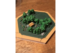 Catan wood landscape for magnetic base remix