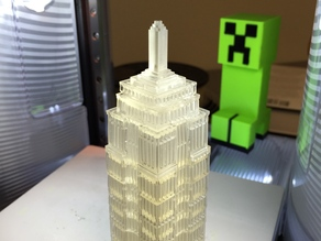 Empire State Building with Cubes