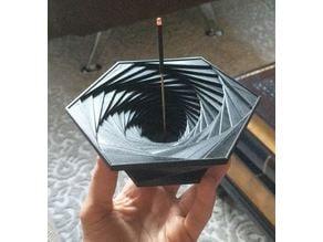 Spiral Hexagon Incense Holder
