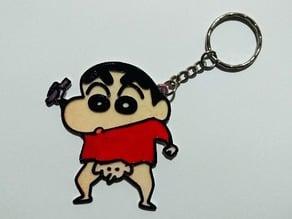 shin chan keychain