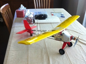 RC plane with brushless motor - ABS plastic and PS Foam hybrib