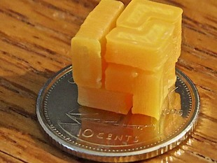 World's Smallest 3D printed Soma Cube Puzzle