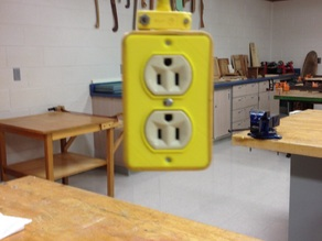 OUTLET COVER FOR PULL DOWN OUTLET BOX