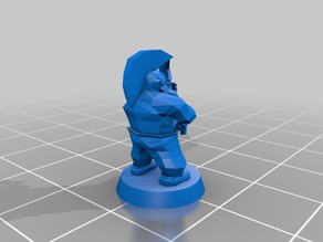 Dwarf slayer with axe 18mm low poly