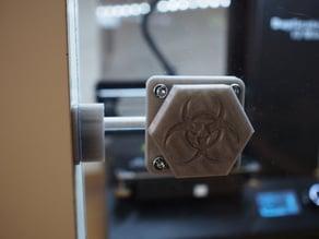 Door latch for 3Dprinter housing (Biohazard)