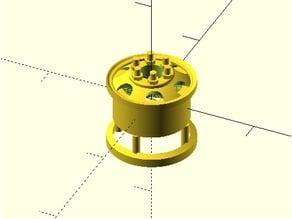 Parametric US Army WW2 7.5x20 Wheel Rim