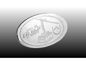 Piz Nair Elongated 20 Cents Coin