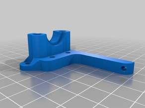 Simplified CR-10/Ender 3 E3D V6 mount