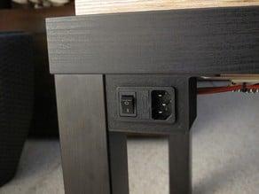Ikea Lack IEC corner bracket