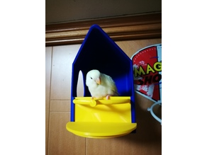 Bird House (adhere to wall using 3M Dual Lock)