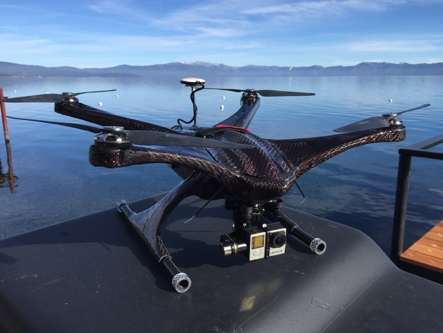 custom carbon fiber quadcopter frame _ r fly by richeanx