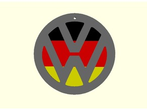 Volkswagen Logo with Multicolor flag (Customized VW Logo)