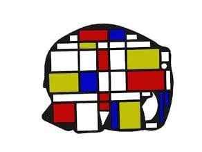 Puzzle Elmer Mondrian Design