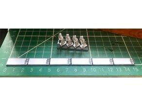 Hordes of the Things (HotT) 15mm 600p Ruler / Game Board Measure
