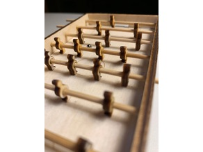 Lasercut Garlando F200 Evolution Foosball table