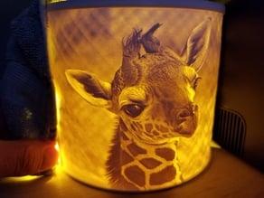 Giraffe Lithophane