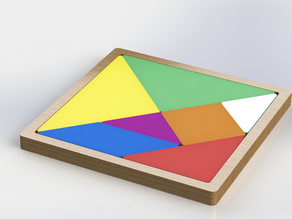 Tangram -- Old game with a rethink of 3d Print