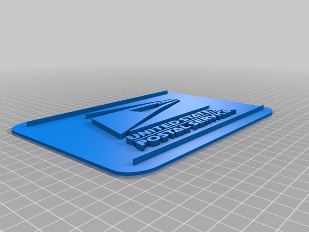 USPS Logo on Square Plate by Pwtrull - Thingiverse