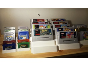 Game cart holder (SNES, N64, Gameboy/GBA, DS, NES)