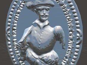 Sir Walter Raleigh - Cameo Brooch