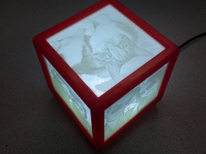 Litho Box Lamp (LED/USB powered)
