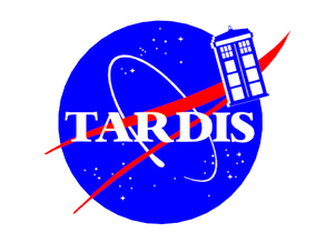 TARDIS NASA LOGO PARODY SIGN