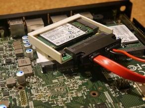 mSATA to SATA adapter enclosure for PC Engines APU/APU2
