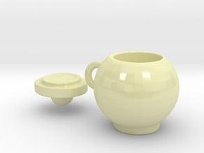 Round mug with lid