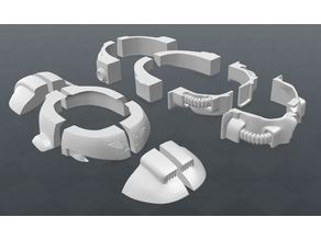 Space marine helmet simplified an cut into pieces