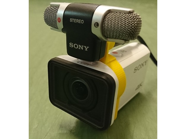 Mic holder for Sony FDR-X3000 and ECM-DS70P by MrMarklar ...