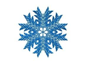 Leafy snowflake in BlocksCAD