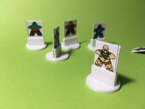 Simple board game standee (parametrized)