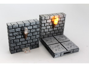 OpenForge Cut-Stone OpenLOCK Torch Wall