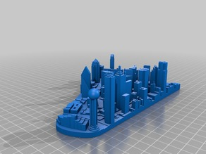 Dallas Skyline (downtown) - Thinner Base