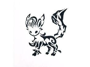 Leafeon stencil