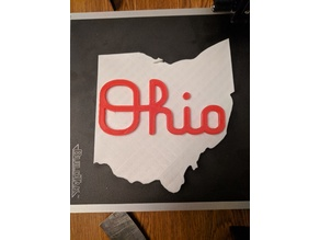 Script Ohio Sign