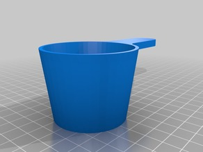 Protein powder measuring cup