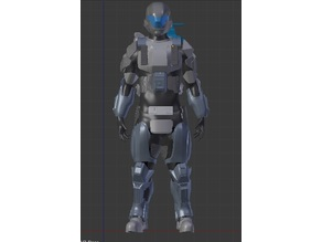 Halo 3 ODST - Rookie - Full Armor Set - Modified for Cosplay