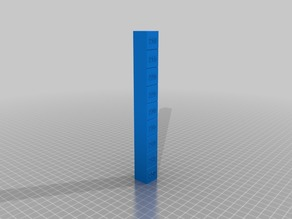 Temperature tower ABS (250° - 210°)