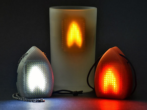Animated LED Matrix Fire Pendant