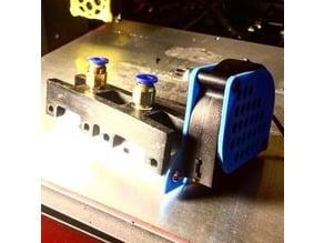 Bowden Mount *new fan mount* CTC improved remix-v2. No Sensor mount. For CTC / Flashforge / Qidi Tech-I / Makerbot Replicator / Monoprice CTC / Wanhao Duplicator 4/ Generic Acrylic CTC