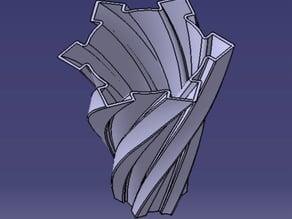 Spikey Spirally Vase