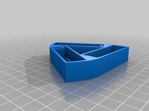 triangular battery holder