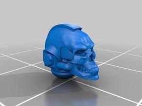 Spooky skull-headed priest helmet