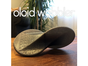 Oloid Wobbler (rolling fidget desk toy)